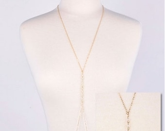 Beaded Body Chain Necklace