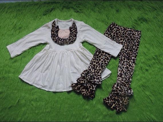 Baby girl animal print pants set baby girl clothes by