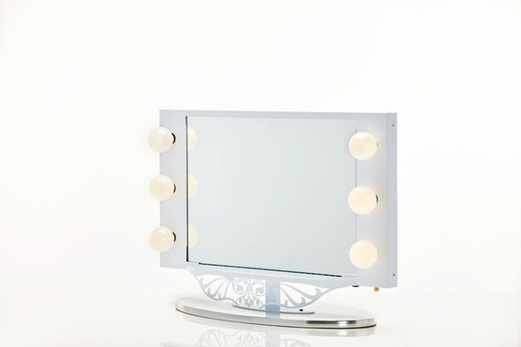 Starlet Lighted Vanity Mirror Reviews : Starlet Lighted Vanity Mirror White by HollywoodVanityGirl on Etsy