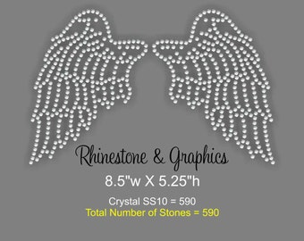 Instant Download Rhinestone Wings Design