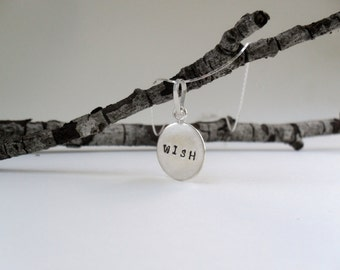 Dainty wishing with sterling silver chain