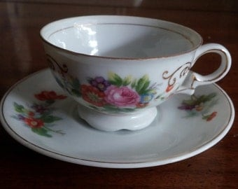 1940s Occupied Japan Small Tea Cup and Saucer Set