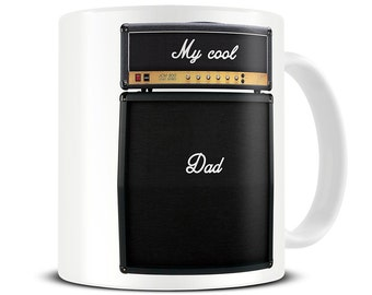 My Cool Dad Guitar Amp Coffee Mug - gift for dad - father's day gift - guitar mug - gift for guitarist - MG294