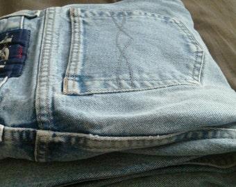 vintage lei flare jeans with velvet detail
