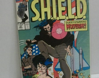 1991 Nick Fury Agent of Shield #27  Guest Starring Wolverine  VG-Fine Unread Condition Vintage Marvel Comic Book