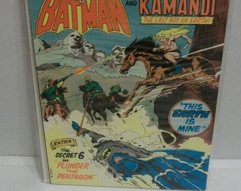 1975 DC Comics The Brave and The Bold Giant #120 July  Batman and Kamandi The Last Boy On Earth  Good to VG Condition  Vintage Comic Book