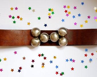 Vintage Brown Leather Waist Belt