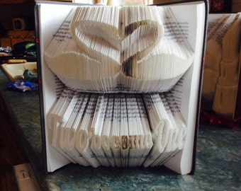 Two become One Book folding pattern