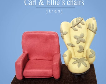 disney up carl and ellie chairs wedding cake topper carl and ellie etsy 13574