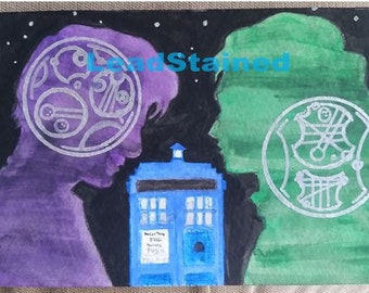 Watercolor Doctor Who Postcard