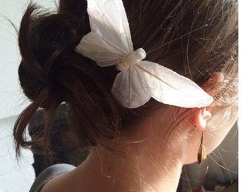 Butterfly Hair Pin, Bridal Accessories, Wedding Accessory, Ivory Butterfly, Bride, Bridesmaid,