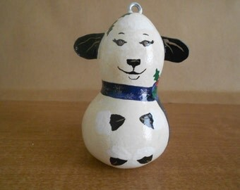 Free Shipping! Painted Gourd Ornament, Little Lamb mini gourd ornament