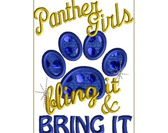 5X7 PANTHER GIRLS Bling- Panther girls bring it and bling it!  Contact me for other teams!