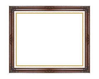 High Quality Dark Wood Ready Made Picture Frame for Canvas Art Paintings Open Back - Small to Large Sizes