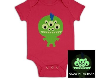 Monster (Glow In The Dark) baby grow