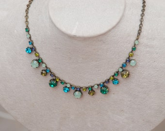 RARE VINTAGE AVON Necklace Teal Blue Green