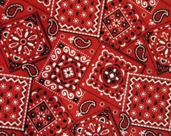 """31"""" Red Bandana Fabric 338"""