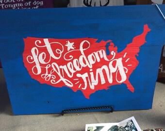 Let Freedom Ring Americana Decor
