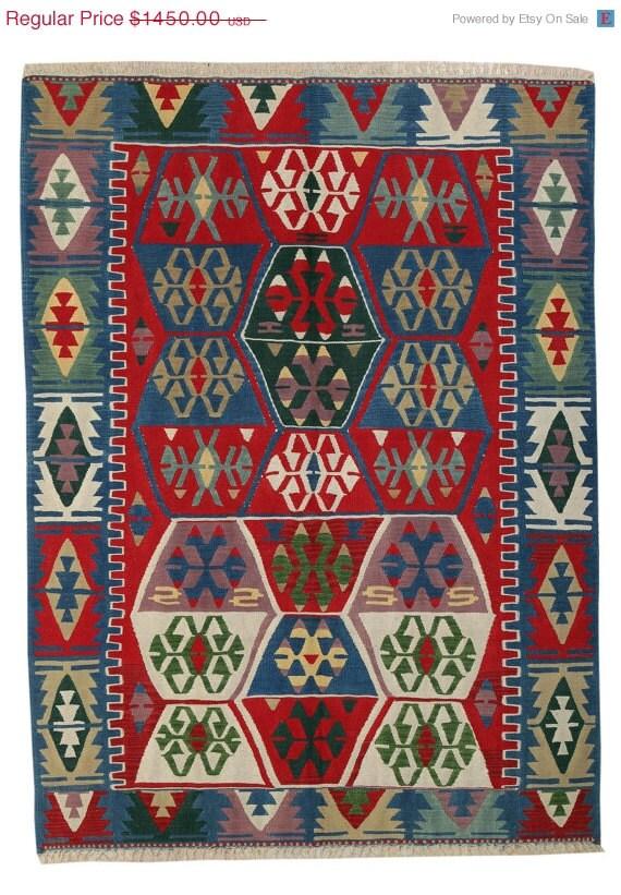 vintage turkish kilim rug multi color by arearugskilims on. Black Bedroom Furniture Sets. Home Design Ideas