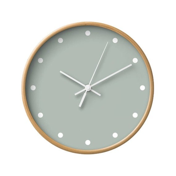 dots wall clock 5 neutral colors options decorative wall. Black Bedroom Furniture Sets. Home Design Ideas