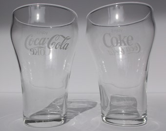 SET OF 8 Vintage 10oz Coca-Cola Glasses
