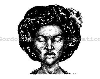 Snake Witch Illustration Print