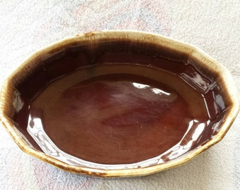 McCoy brown drip oven ware