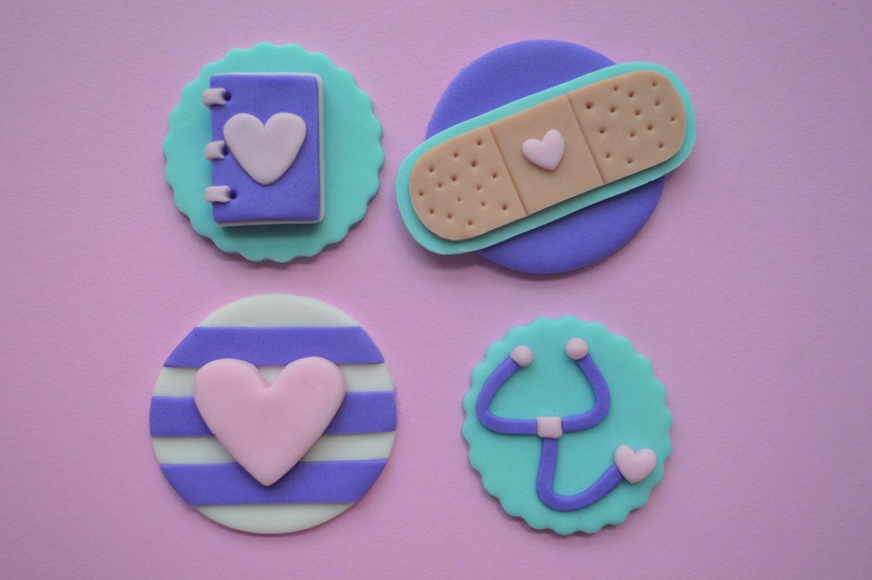 12 Doc McStuffins Cupcake Toppers Fondant