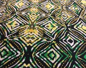 African cotton fabric , African fabric, Ankara fabric, cultural prints, Africa fabric, green, gold and black African prints,