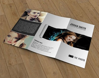 Tri-fold brochure for photography | photography brochure template | Photography Marketing | PB-005