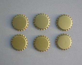 Gold Unflattened Bottle Caps
