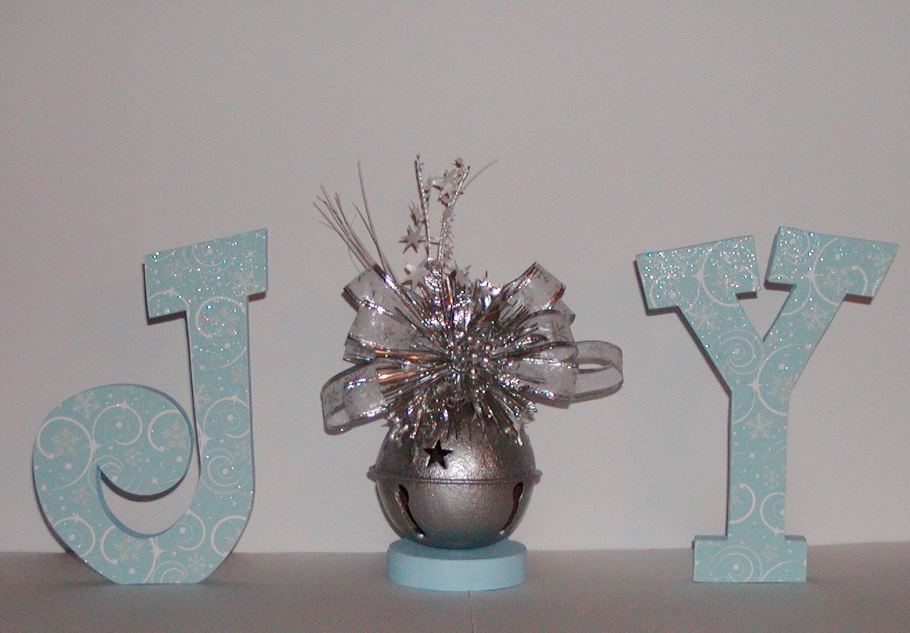Christmas Decor Joy Holiday Wooden Letters