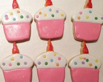 Cupcake Sugar Cookie in Pink