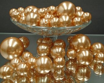 80 Faux Pearl Vase Filler Plastic Beads for Wedding Decor Centerpieces