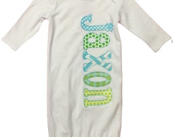 Name Applique Onesie (YOU CHOOSE STYLE)