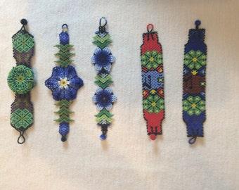 Huichol art bracelets