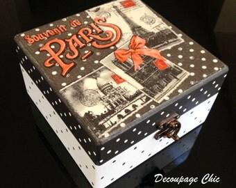 Jewerly box - black and white polkadots