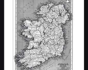 Ireland Map - Print - Poster