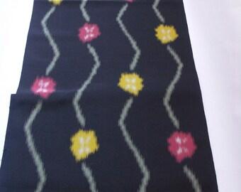 Vintage Japanese Kimono Fabric Kasuri Omeshi plum blossom