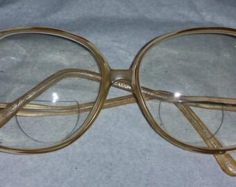 Big Lens Bifocal Ladies Vintage Eye Glasses 60's