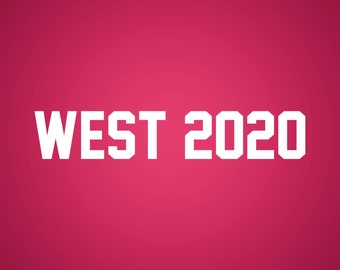West 2020 · Yeezy for President Sticker / Vinyl Decal / Laptop Sticker / Presidential / Kanye / Yeezy Taught Me / VNL Company