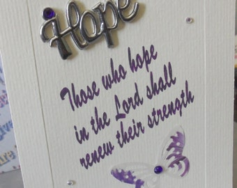 Hope for caregivers card, hope, encouragment, renew their strength