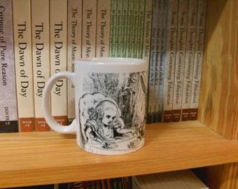 Caffeinated Classics: Mad Tea Party Literary Book Mug