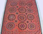 Traditional Handmade Vintage Suzani Embroidery
