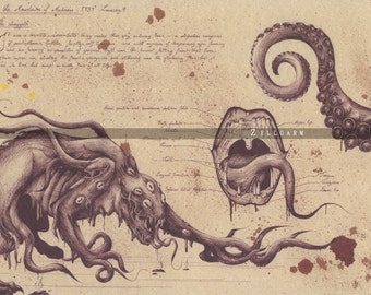 Lovecraft Art Print - Shoggoth