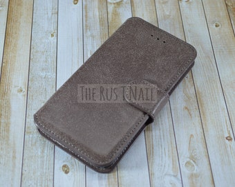 FREE SHIPPING - Chocolate Brown iPhone 6 Wallet Case - Leather
