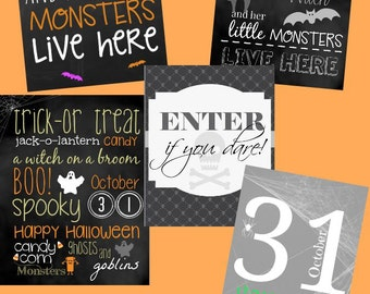 BULK Halloween Printable Package - Includes 5 Halloween Printables! (ALL Instant Downloads!)
