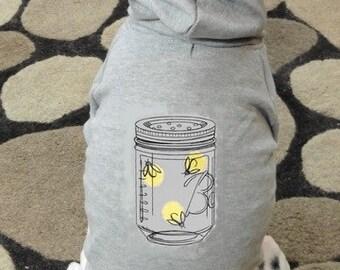 Fireflies in a Mason Jar Dog Hoodie Sweatshirt