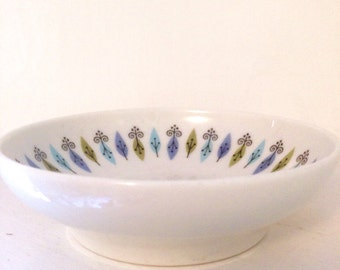 Mid Century Modern Nordic Pattern Dessert Bowl by Syracuse China Carefree Collection