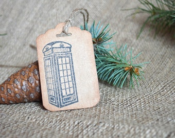 Phone Booth Tags, London, England, Shabby,Wedding Tag London,Wedding Favor Tags,London Wedding, Shabby Chic,Rustic Wedding Tags